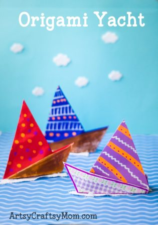 Simple Origami Yacht Craft for Kids