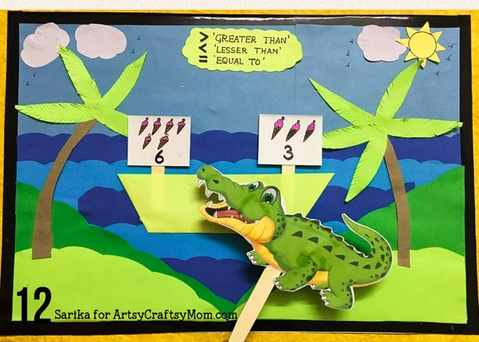 photograph about Greater Than Less Than Alligator Printable called Finding out Improved Than, Significantly less Than, and Equals with Alligator Math