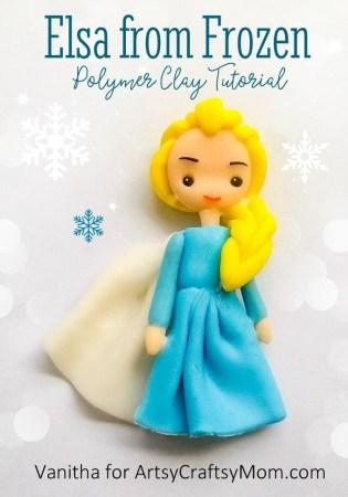Adorable Frozen Elsa Polymer Clay Craft