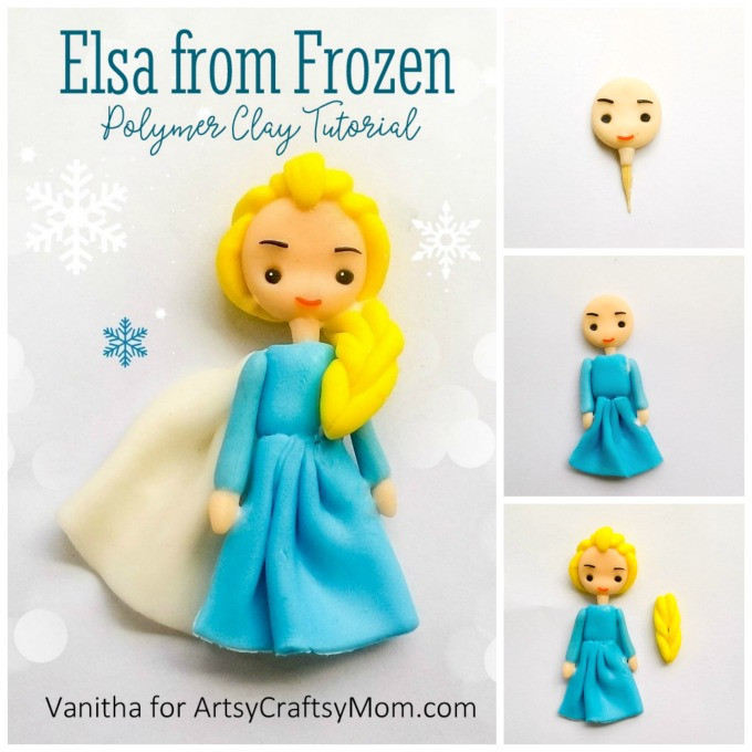 Do you have a Frozen fan at home? If yes, then she's sure to love this adorable Frozen Elsa Polymer Clay Craft! Give as a gift or keep for yourself!