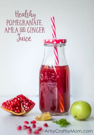 Healthy Pomegranate, Amla & Ginger Juice with Kent Cold Pressed Juicer