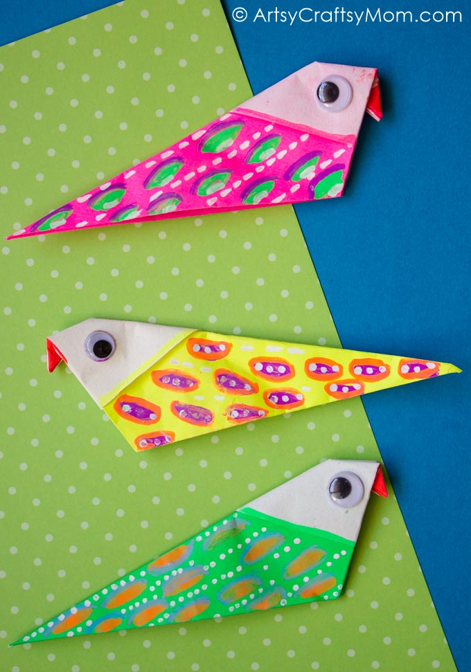 Flapping Bird: Animated Origami Instructions: How to make Origami | 971x680