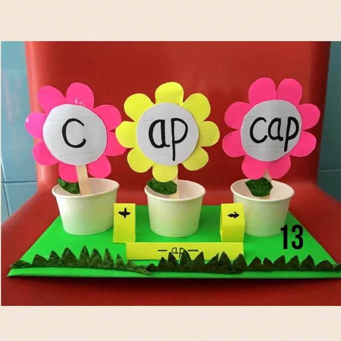 CVC Popsicle Stick Flowers