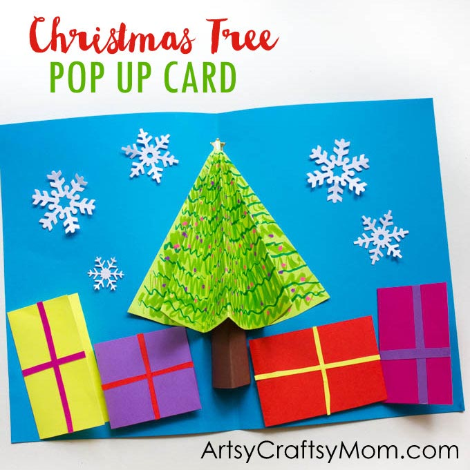 Easy 3d christmas tree pop up card artsy craftsy mom easy 3d christmas tree pop up card m4hsunfo