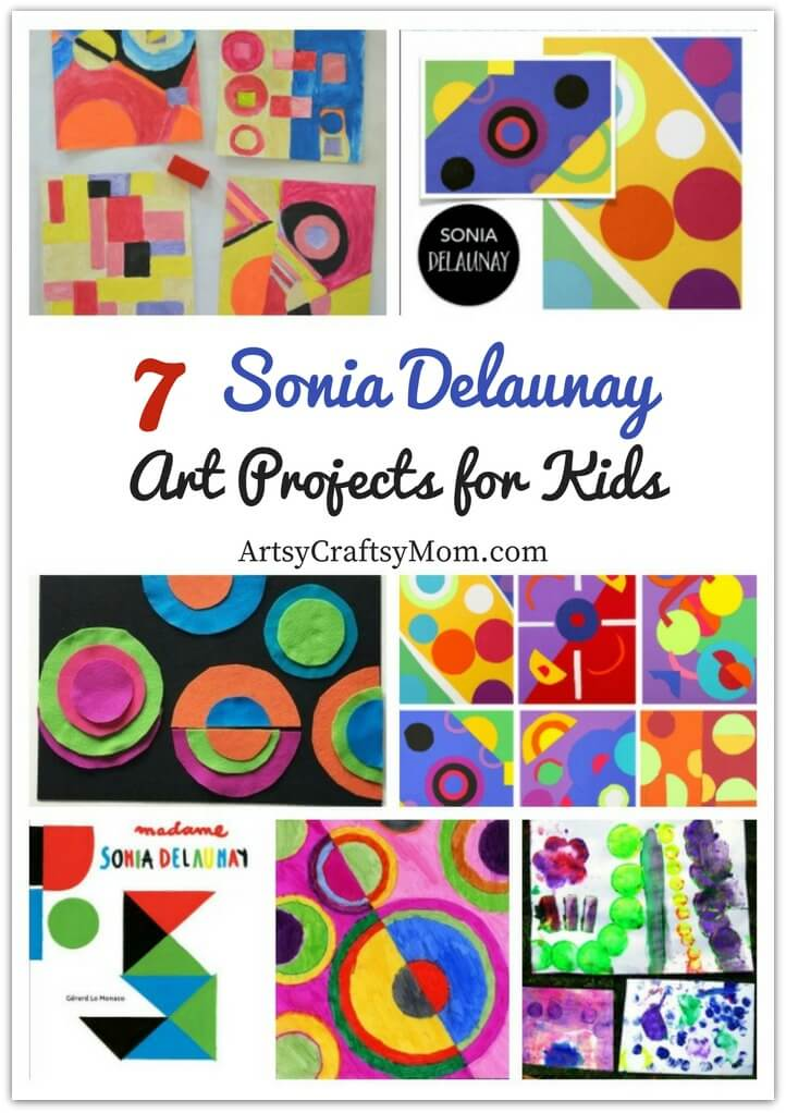 Learn all about the amazing artist Sonia Delaunay with these Gorgeous Sonia Delaunay Art Projects for Kids, with art work, collages & more!