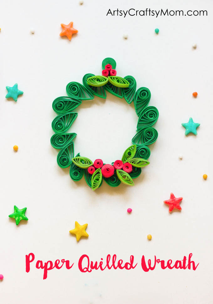 Easy Christmas Ornament , Paper Quilled Wreath