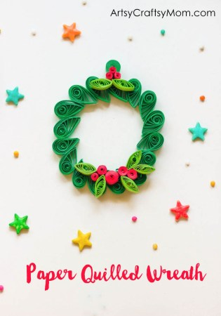 Easy Christmas Ornament – Paper Quilled Wreath