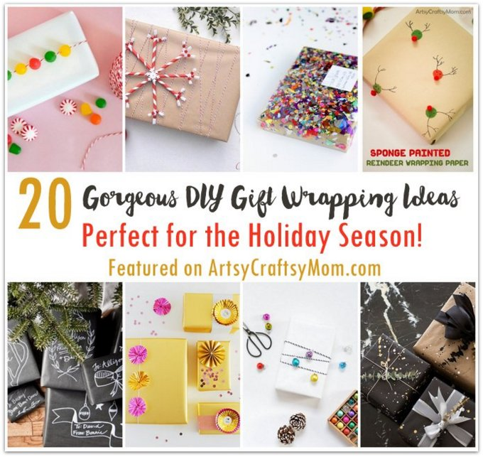 20 Gorgeous DIY Gift wrapping ideas for the holiday season! Sometimes all you need to make a gift stand out is one of these Gorgeous DIY Gift wrapping ideas!