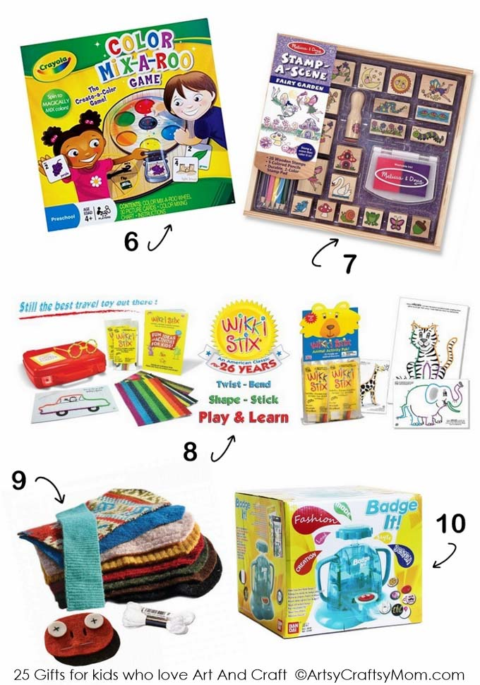 Top 25 Gifts for Kids who love Art and Craft - Artsy Craftsy Mom