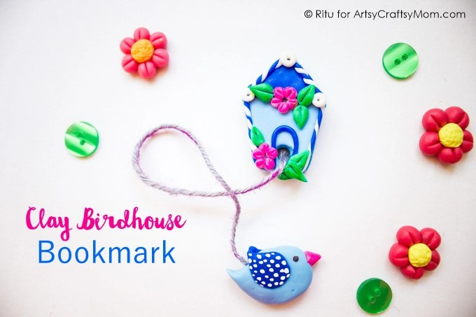 Book lovers love something else besides books - bookmarks! Gift your loved ones a handmade clay birdhouse bookmark this holiday season!