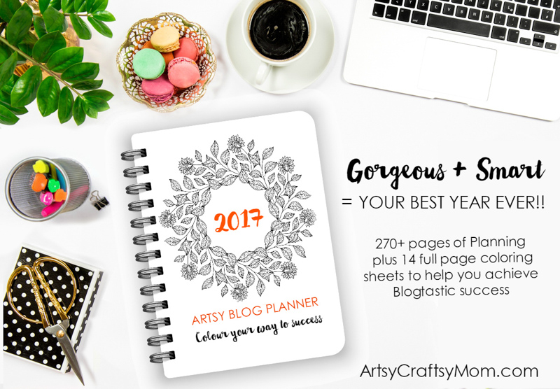 With almost 270 pages, the Artsy Blog Planner is the best tool for planning a profitable blog. Blog checklists, daily, weekly, monthly planners, calendars + 14 full page coloring elements to help you build a year of killer content while providing hours and hours of stress relief, mindful calm, and fun, creative expression.