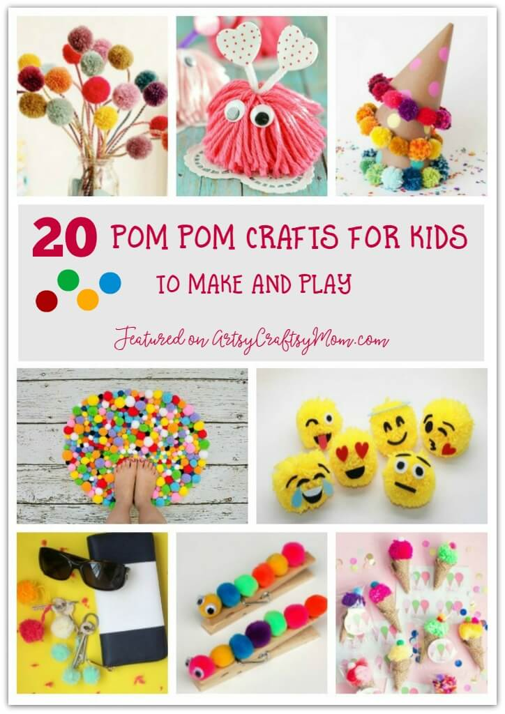 Make Your Own Pom-Pom Kit Kids Childrens Creative Activity Craft Fluffy Animal
