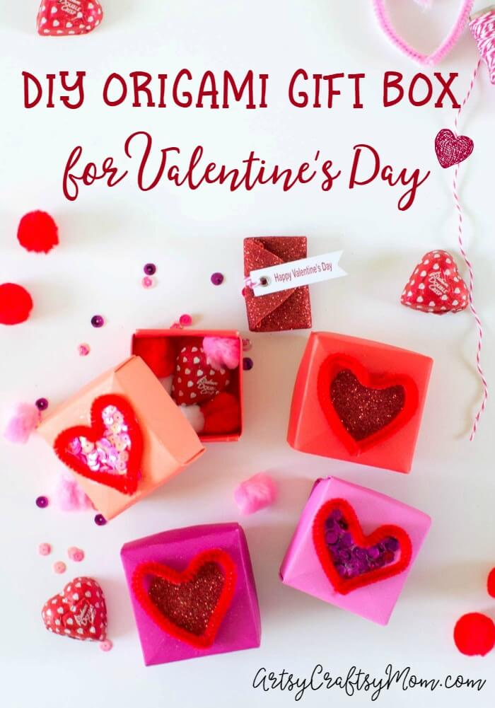 Diy Origami Gift Box For Valentines Day