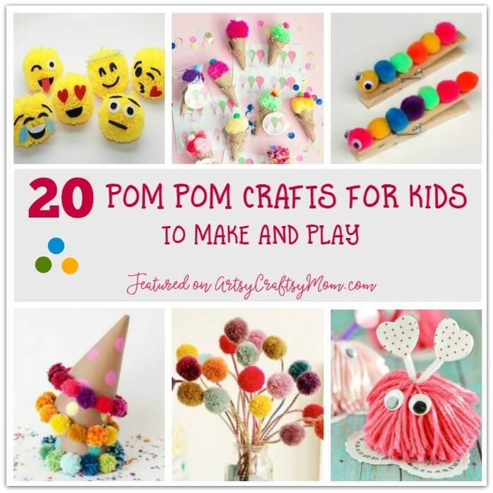 20 Pretty Pom Pom Crafts For Kids To Make And Play