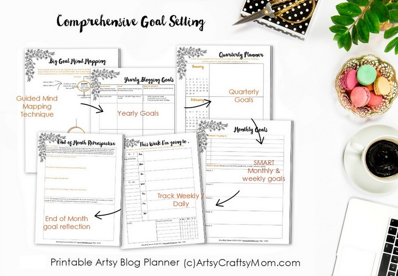 Start 2018 with a bang with the Artsy Blog Planner 2018 - Over 270 pages of checklists, daily, weekly, monthly planners, calendars + 14 full-page coloring elements to help you build a year of killer content while providing hours and hours of stress relief, mindful calm, and fun, creative expression.