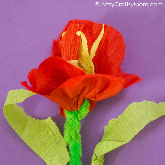 Handmade crepe paper flower cards artsy craftsy mom this mothers day surprise your mom with these diy camelia like handmade crepe paper flower cards mightylinksfo