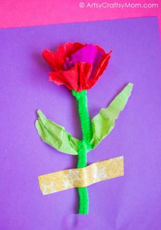Handmade Crepe Paper Flower Cards