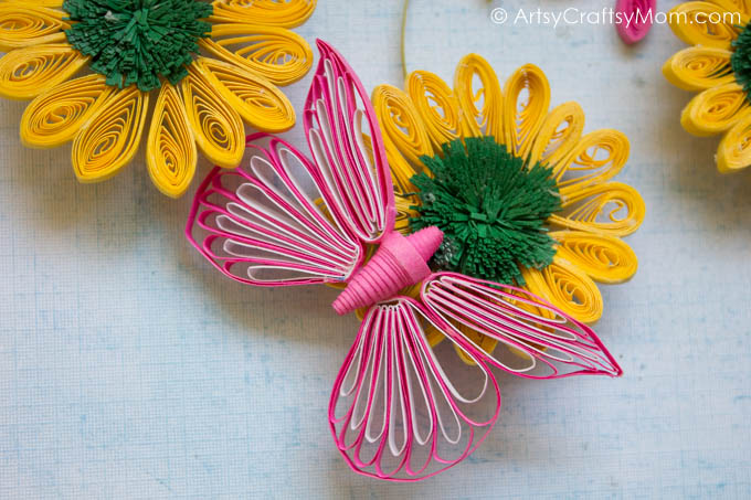 Infuse The Essence Of Spring In Your Home With A Flower Garden Paper  Quilling Wall Art