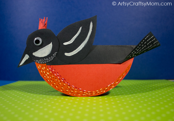 Everyone loves watching birds fly freely. As we welcome spring, let's make a little bird who doesn't fly, but rocks - with a Rocking Spring Bird Paper Craft!