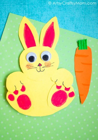 Rocking Easter Rabbit Craft with Video Tutorial