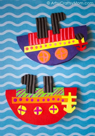 Rocking Boat Paper Craft with Video Tutorial