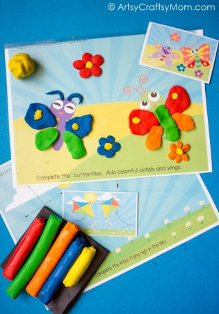 Free Printable Spring Themed Play Dough Mats