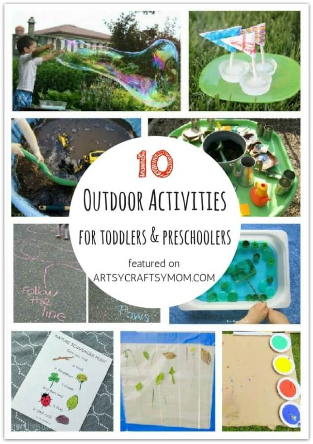 Don't let little kids feel left out when crafting! Here are 10 outdoor activities for toddlers and preschoolers, designed specifically for them!