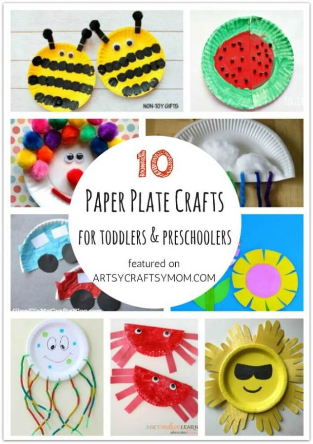 Don't let little kids feel left out when crafting! Here are 10 Paper Plate crafts and activities for toddlers and preschoolers, designed specifically for them!