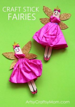 DIY Craft Stick Fairy Craft for Kids – Video tutorial