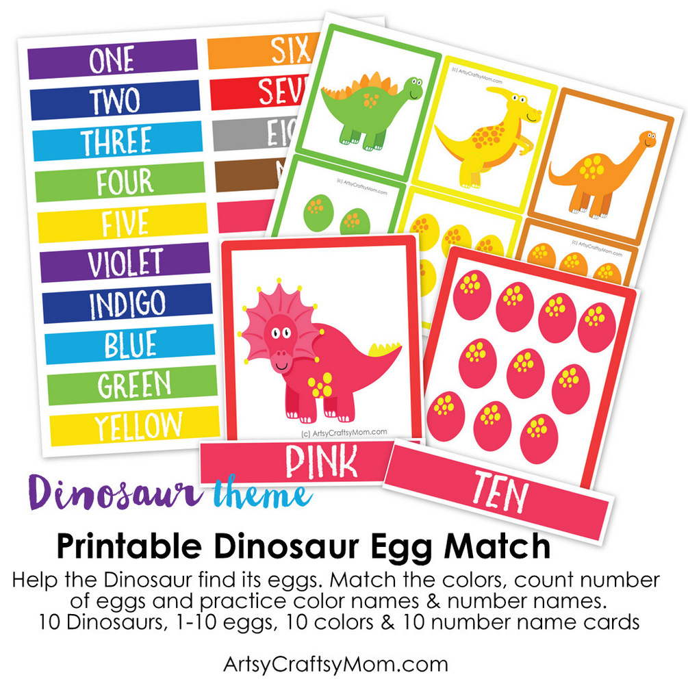 image relating to Printable Match Game named Printable Dinosaur Egg Video game Activity for Small children