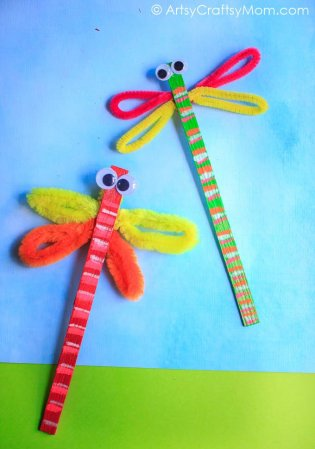 Popsicle Stick Dragonfly Craft –  Video Tutorial