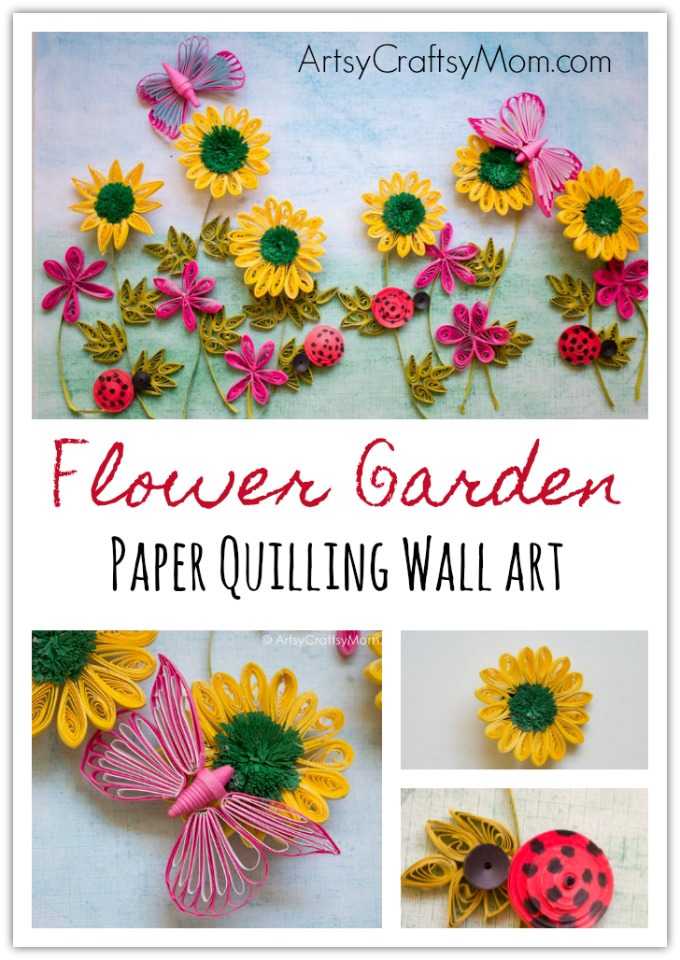 Flower garden paper quilling wall art infuse the essence of spring in your home with a flower garden paper quilling wall art mightylinksfo