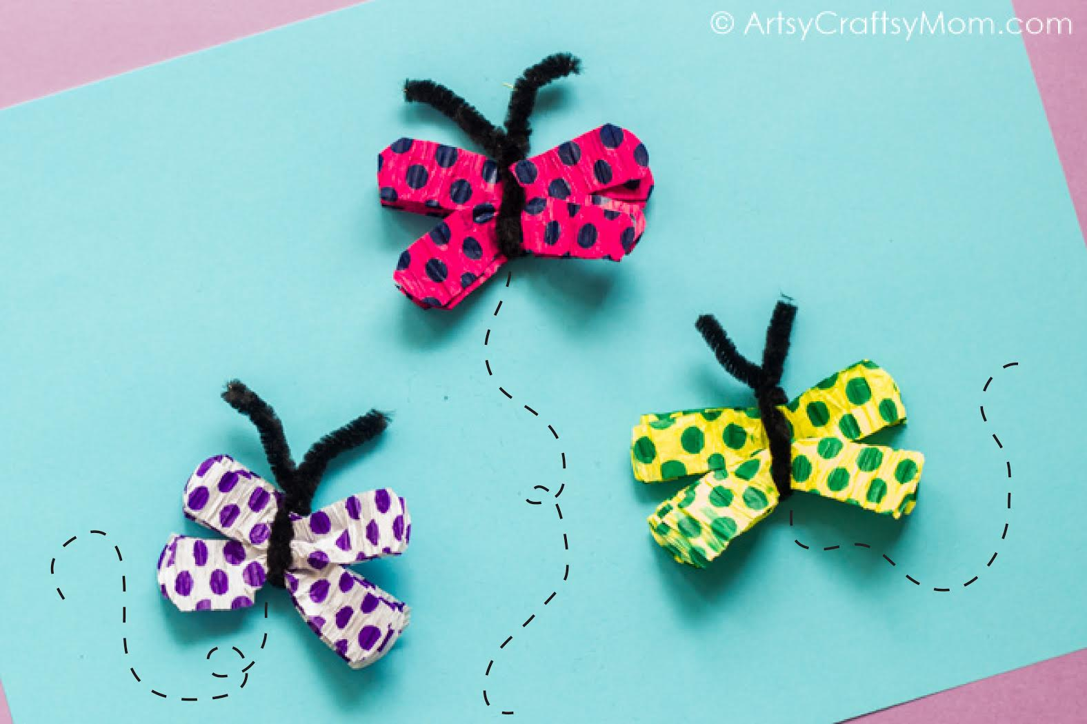 Easy Crepe Paper Butterfly Craft For Kids Artsy Craftsy Mom