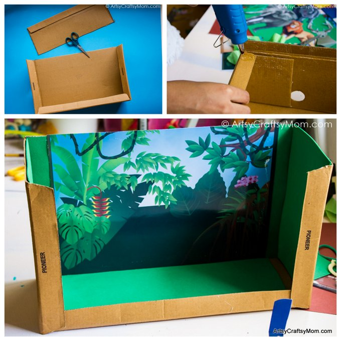 graphic about Diorama Backgrounds Free Printable identify Do-it-yourself Forest Diorama Higher education Venture with Epson InkTank Printer