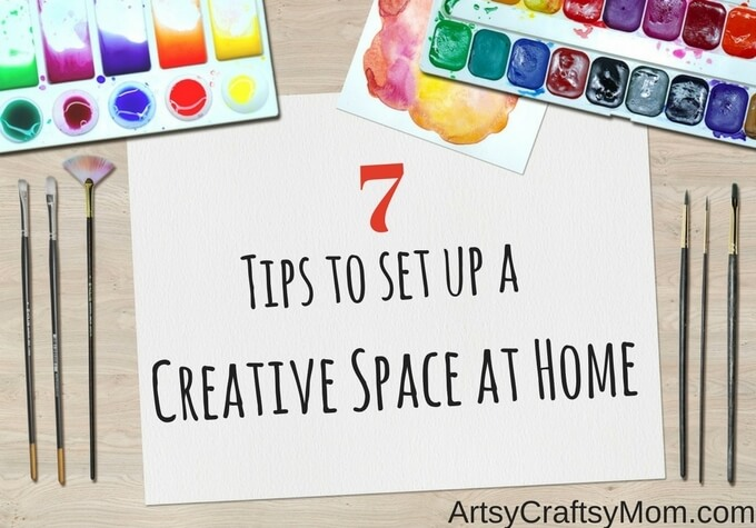 Whatever size your home is, there's always space to get creative! Check out our tips to set up a creative space at home that the whole family will love!