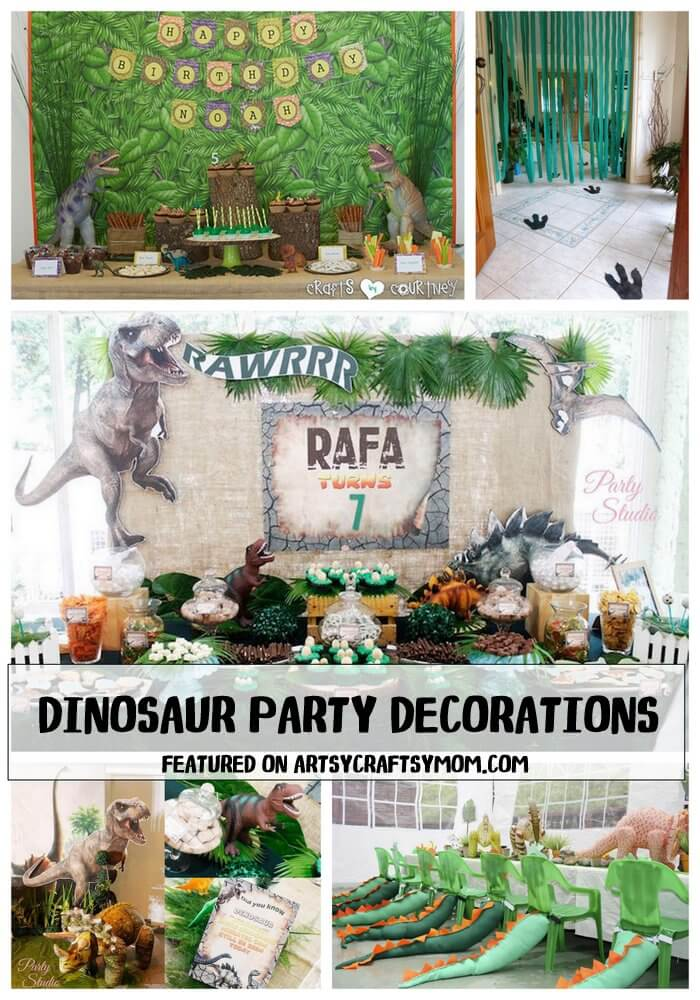 20 Ideas For An Amazing Dinosaur Themed Party for kids - Take a look at the coolest ideas for decorations, printables, games, party foods, cakes and more