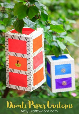 How to Make A Stunning DIY Paper Lantern | Diwali Crafts
