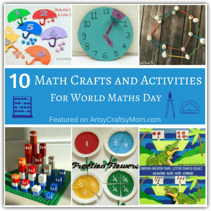 Math can evoke extreme reactions, but it can actually be quite fun! Check out these enjoyable Math Crafts and Activities for kids to try this World Maths Day.
