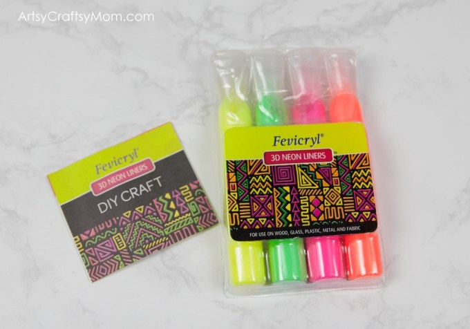 The Fevicryl 3D Neon Liners Come In A Pack Of 4 Colours Yellow Pink Orange Green Priced At Rs 99 For Box Buy Them Here