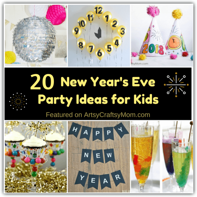 Ring in the New Year with a blast! Here are some DIY New Year's Eve Party Ideas for kids that look great, are simple to make and easy on the pocket too! With ideas for food, decor, games and more!