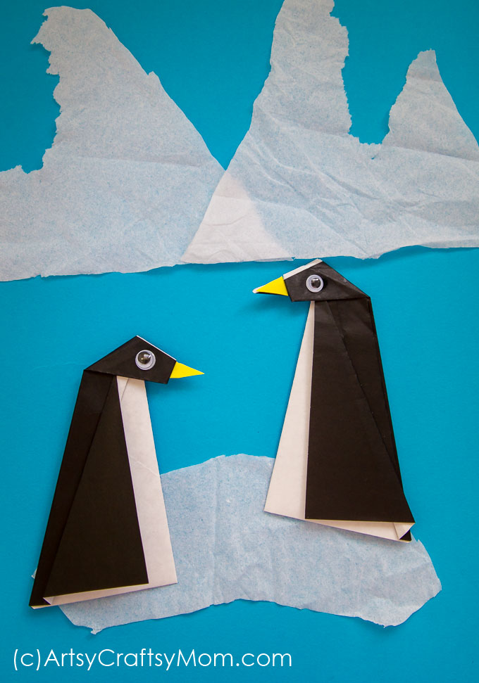 Easy Origami Penguin Craft For Kids