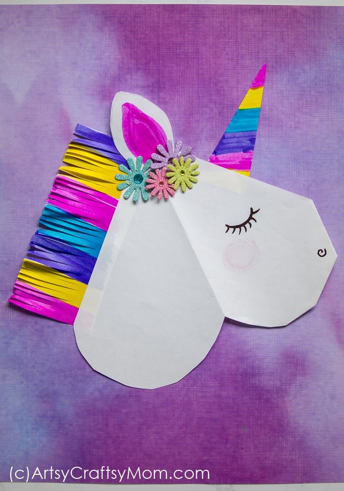 diy unicorn valentine paper puppet