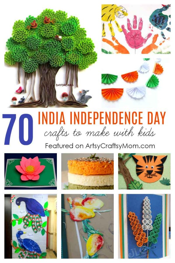 0 INDIA INDEPENDENCE DAY CRAFTS AND ACTIVITIES FOR KIDS - From India Flag crafts to crafts on National Symbols - Tiger, Peacock, Lotus , Mango & Tri Color Party Food.