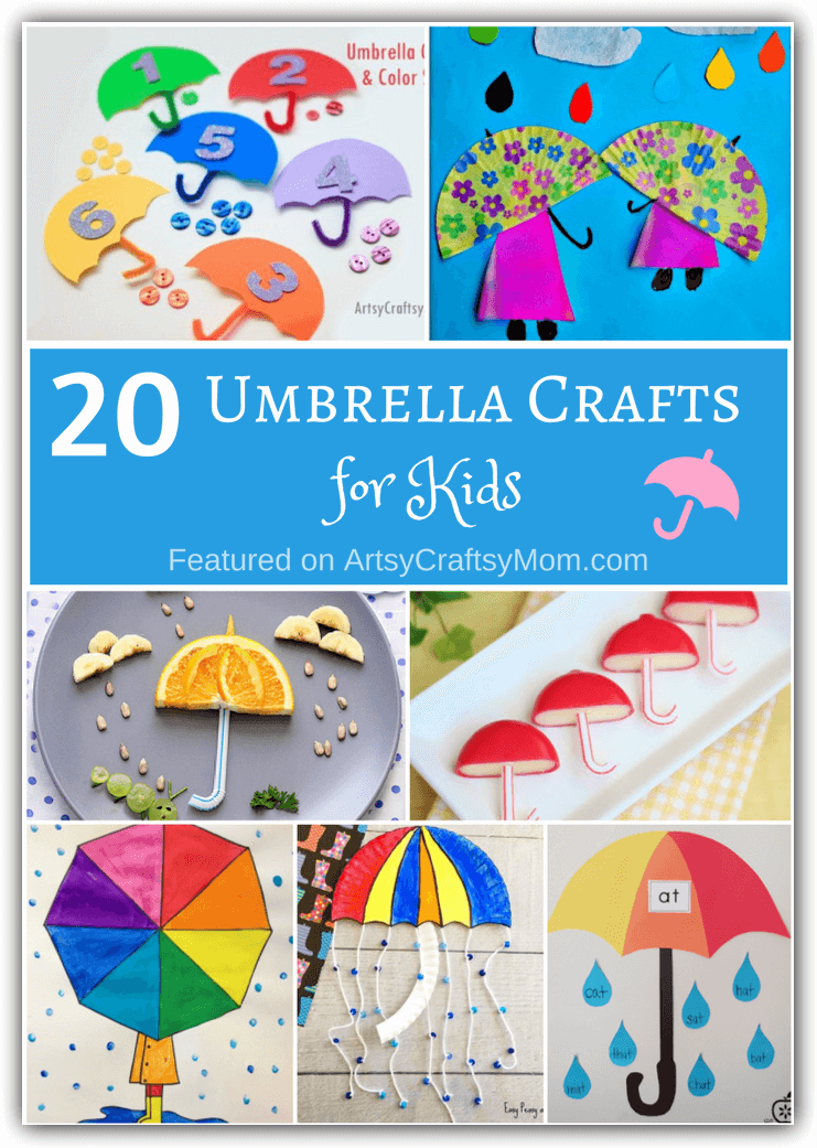 20 Unusual Umbrella Crafts for Kids