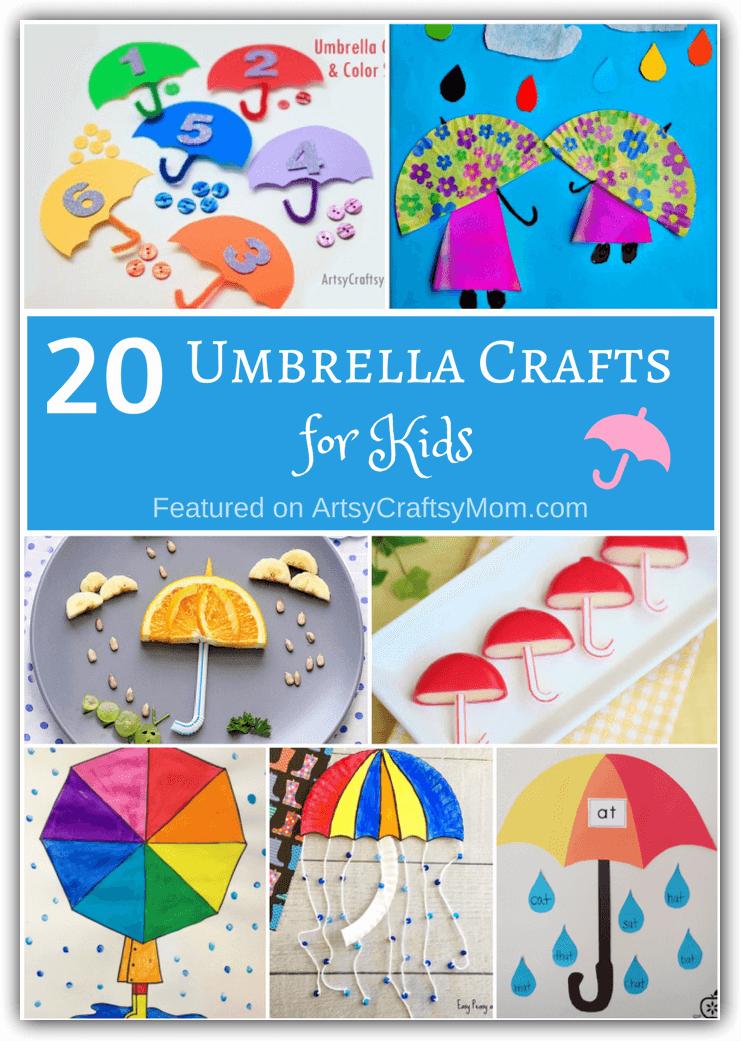 Lovely Umbrella Craft Ideas For Kids Part - 7: Artsy Craftsy Mom