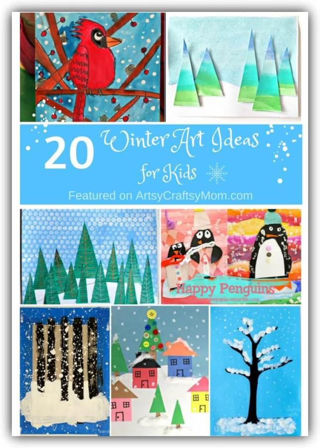 20 Winter Art Ideas For Kids That Are Frame Worthy