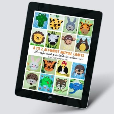 A Z Alphabet Animal Crafts eBook 1