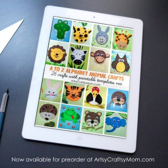 A to Z Alphabet Animal Craft Ebook + Printable Templates
