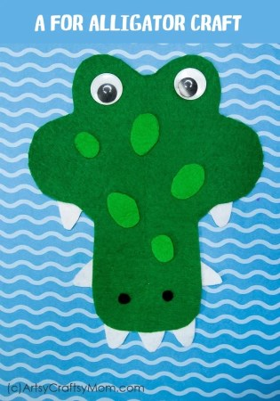 Printable Alphabet Animal A for Alligator Craft