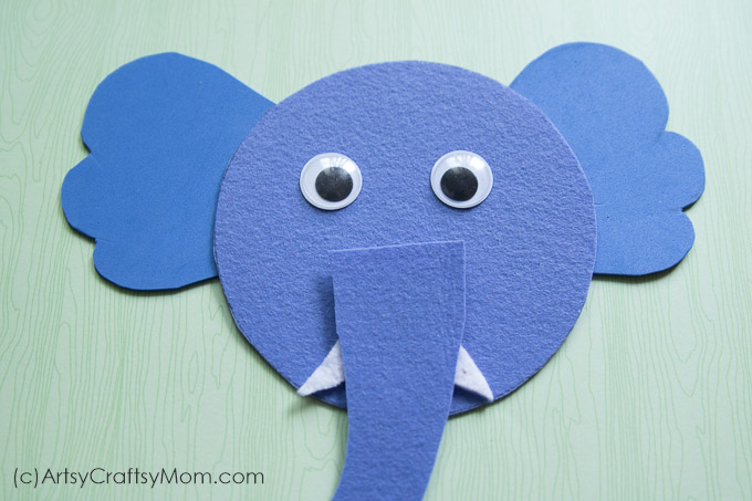 E For Elephant Craft With Printable Template Artsy Craftsy Mom